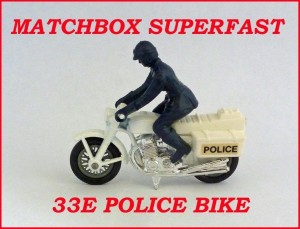 Matchbox Superfast MB33 L.A.P.D Police Motorcycle 33e