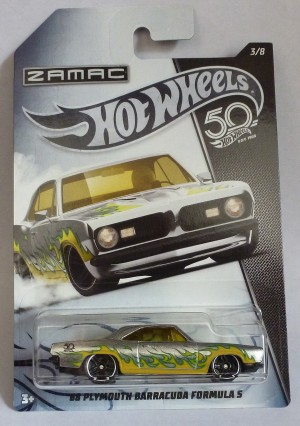 HotWheels 50 Years Zamac '68 Plymouth Barracuda Formula S 3/8