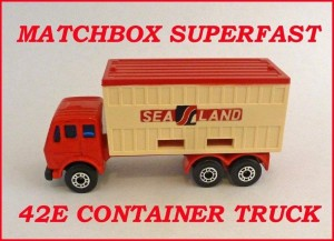 Matchbox Superfast MB42 Mercedes Container Truck Confern 42e