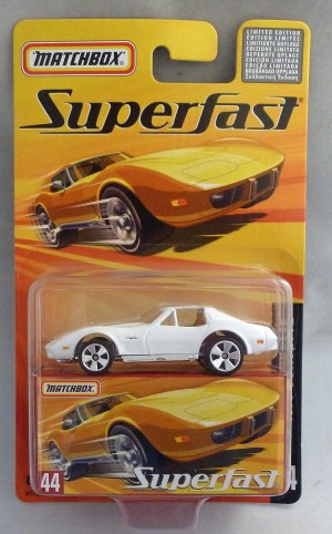 Matchbox Superfast MB44 1976 Corvette White