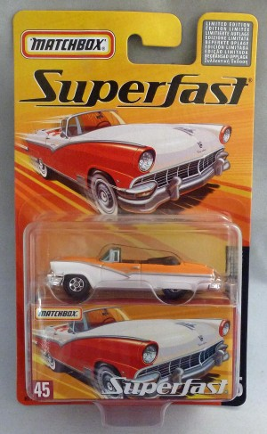 Matchbox Superfast MB45 1956 Ford Sunliner White/Orange