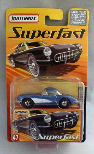 Matchbox Superfast MB47 1957 Corvette Metallic Blue
