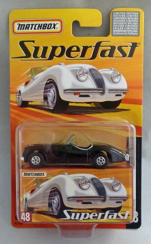 Matchbox Superfast MB48 Jaguar XK 120 Black