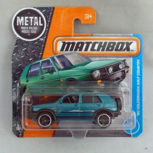 Matchbox MB4 '90 Volkswagen Golf Country Turquoise Short Card