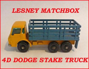 Matchbox Toys MB4d Dodge Stake Truck