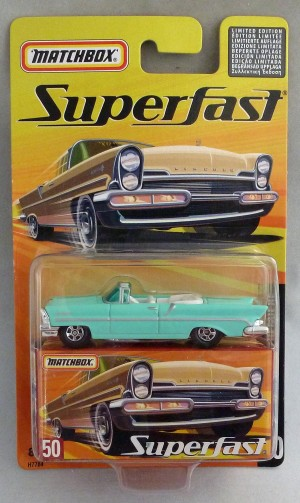 Matchbox Superfast MB50 1957 Lincoln Premiere Turquoise