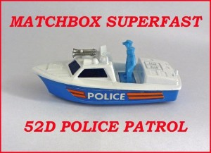 Matchbox Superfast MB52 Police Launch 52d