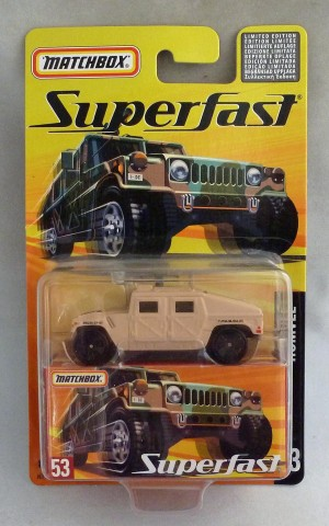 Matchbox Superfast MB53 Humvee Sand