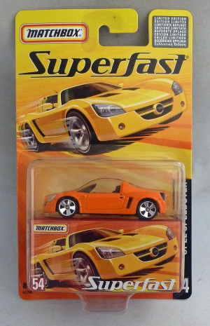 Matchbox Superfast MB54 Opel Speedster Orange