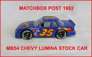 Matchbox MB54 Chevrolet Lumina Stock Car