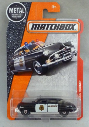 Matchbox MB57 '51 Hudson Hornet Police Car Long Card