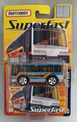 Matchbox Superfast MB60 City Bus Blue/Silver