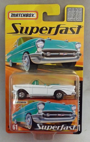 Matchbox Superfast MB61 Chevy Bel Air White