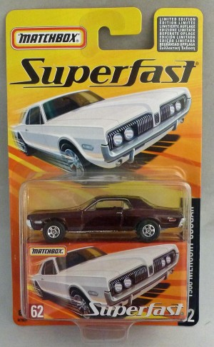Matchbox Superfast MB62 1968 Mercury Cougar Metallic Maroon