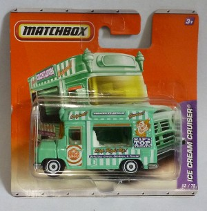 Matchbox MB63 Ice Cream Cruiser Pale Green Short Card