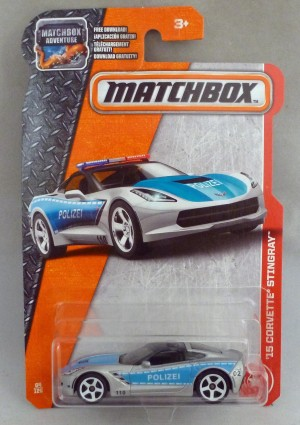 Matchbox MB64 '15 Corvette Stingray Polizei