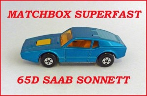 Matchbox Superfast MB65 Saab Sonett 65d