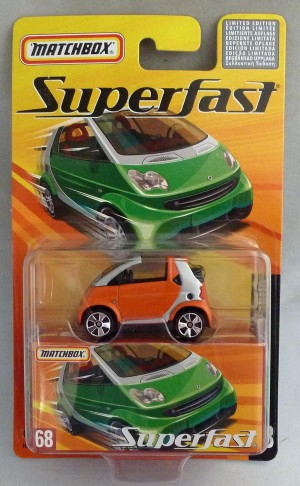 Matchbox Superfast MB68 Smart Fortwo Cabrio Orange