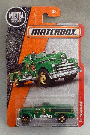 Matchbox MB70 Seagrave Fire Engine Long Card