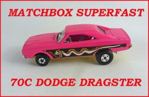 Matchbox Superfast MB70 Dodge Dragster 70c