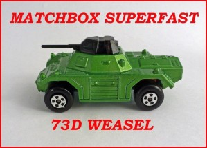 Matchbox Superfast MB73 Weasel 73d