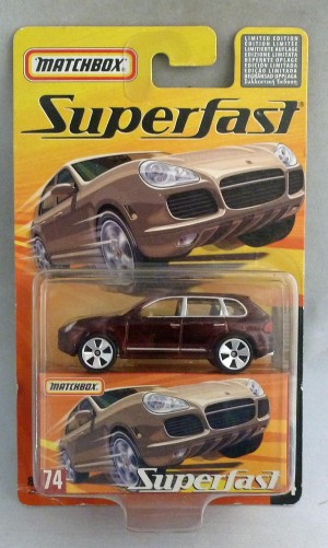 Matchbox Superfast MB74 Porsche Cayenne Turbo Metallic Maroon