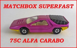 Matchbox Superfast MB75 Alfa Carabo 75c