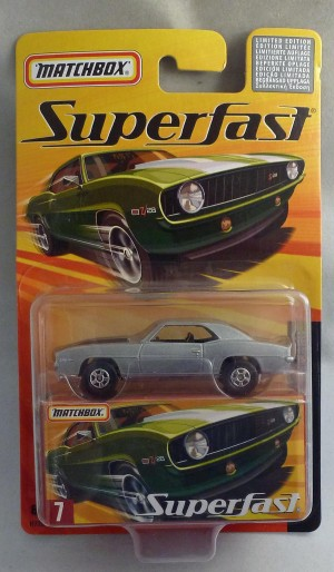 Matchbox Superfast MB7 1969 Chevrolet Camaro Silver