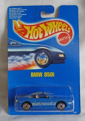 HotWheels BMW 850i Blue