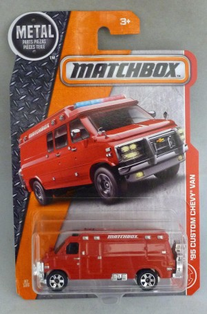 Matchbox MB87 '95 Custom Chevy Van Long Card