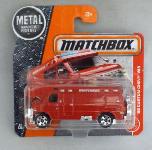 Matchbox MB87 '95 Custom Chevy Van Short Card