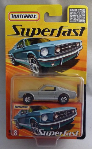 Matchbox Superfast MB8 1965 Ford Mustang GT Silver