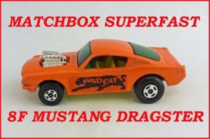 Matchbox Superfast MB8 Ford Mustang Dragster 8f