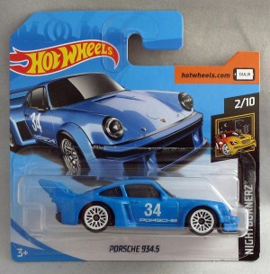 "HotWheels Porsche 934.5 Blue ""Nightburnerz"" 2/10 Short Card"