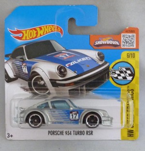 "HotWheels Porsche 934 Turbo RSR Silver ""HW Speed Graphics"""