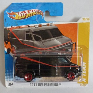 "HotWheels ""The A Team"" GMC Van Short Card"