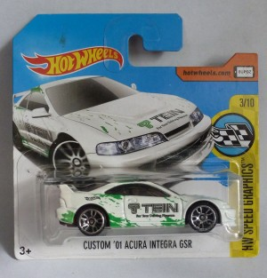 "HotWheels Custom '01 Acura Integra GSR Tein ""HW Speed Graphis"" 3/10"