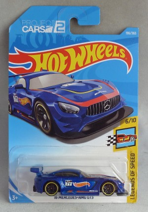 "HotWheels '16 Mercedes AMG GT3 Blue ""Legends of Speed"" 6/10"