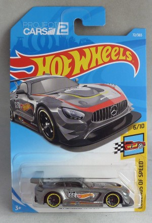 "HotWheels '16 Mercedes AMG GT3 Metallic Grey ""Legends of Speed"" 6/10"