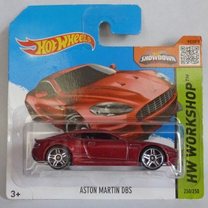 "HotWheels Aston Martin DBS Metallic Red ""HW Workshop"""