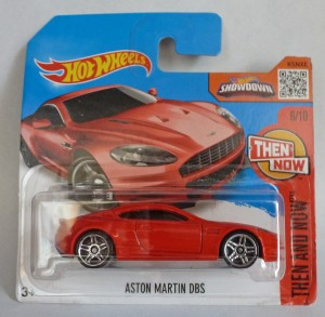 "HotWheels Aston Martin DBS Red ""Then & Now"" 6/10"