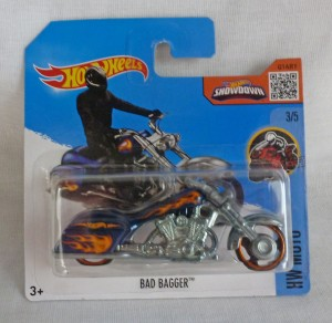 "HotWheels Treasure Hunt Bad Bagger Motorcycle ""HW Moto"" 3/5"