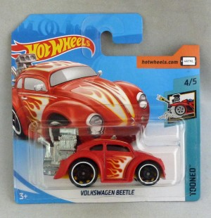 "HotWheels Volkswagen Beetle Red ""Tooned"" 4/5"
