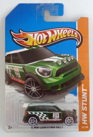 HotWheels '12 Mini Countryman Rally Green Long Card