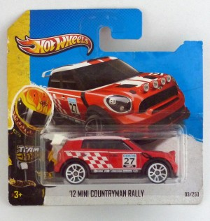 HotWheels '12 Mini Countryman Rally Red Short Card