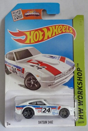 "HotWheels Datsun 240Z ""HW Workshop"" Long Card"