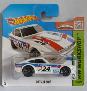 "HotWheels Datsun 240Z ""HW Workshop"" Short Card"