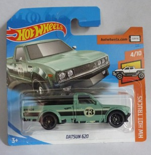 "HotWheels Datsun 620 Pick-Up Pale Green ""HW Hot Trucks"""