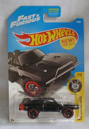 "HotWheels Fast & Furious '70 Dodge Charger ""Experimotors"" 1/10 Long Card"