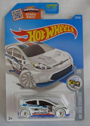 "HotWheels '12 Ford Fiesta White ""HW Snow Stormers"" 2/5"